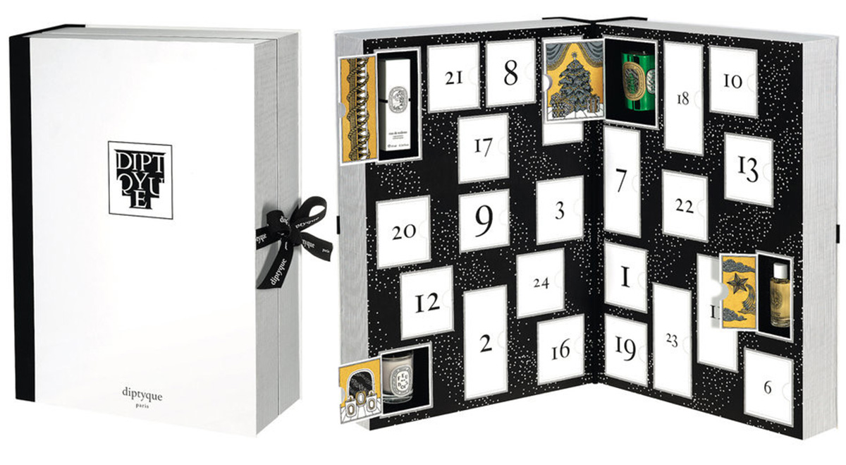 calendrier avent diptiyque bougies